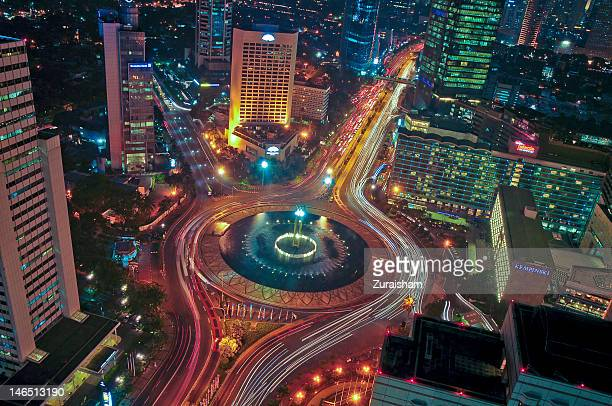 Hotel Indonesia Roundabout at night