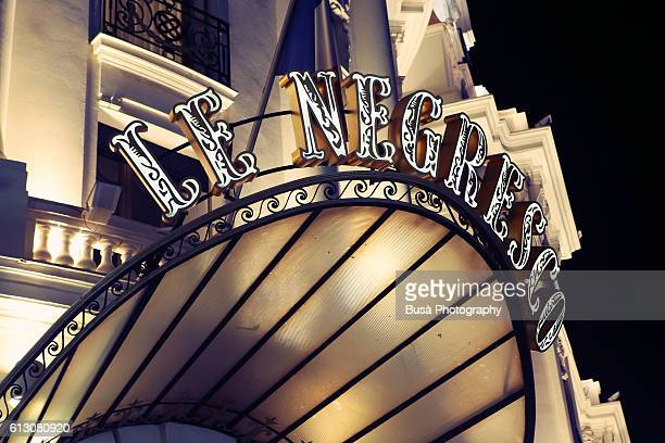 Hotel Le Negresco at night, Promenade des Anglais, Nice, France