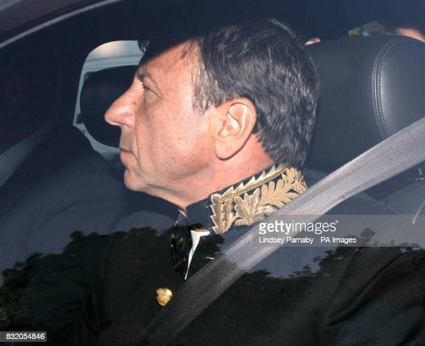 Hotel magnate Rocco Forte arrives for Princess Beatrice's Victorianthemed 18th birthday party at Windsor Castle
