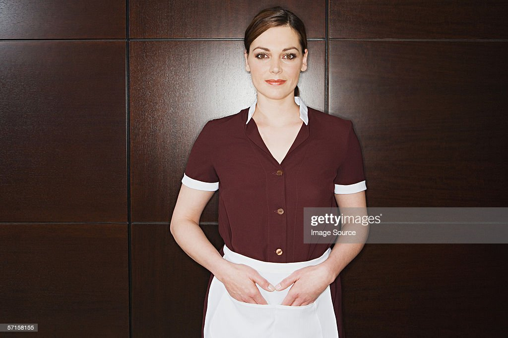 Hotel maid : Stock Photo