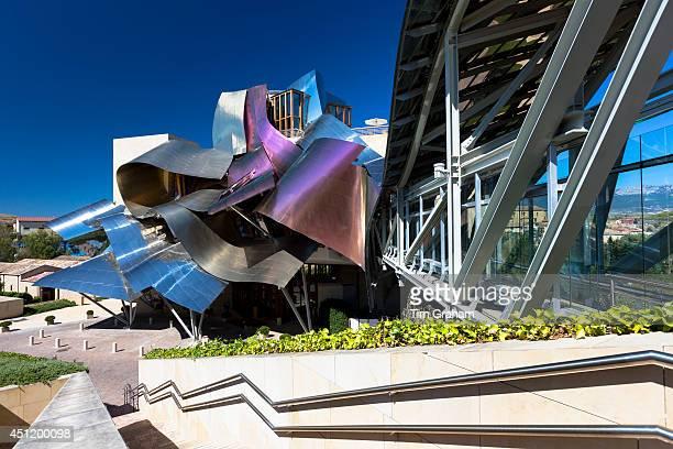 Hotel Marques de Riscal Bodega futuristic design by architect Frank O Gehry at Elciego in RiojaAlavesa area of Spain