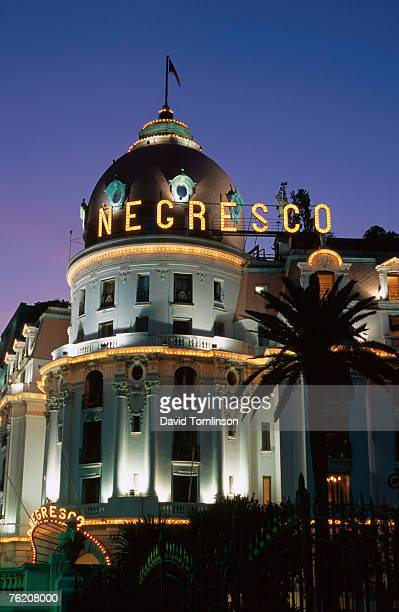 Hotel Negresco at night, Nice, Provence-Alpes-Cote d'Azur, France, Europe