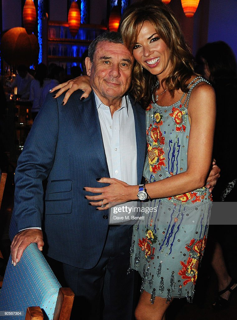 Hotel owner Sol Kerzner and wife Heather Kerzner attend a party for the grand opening of Mazagan Beach Resort on October 30 2009 in El Jadida Morocco...