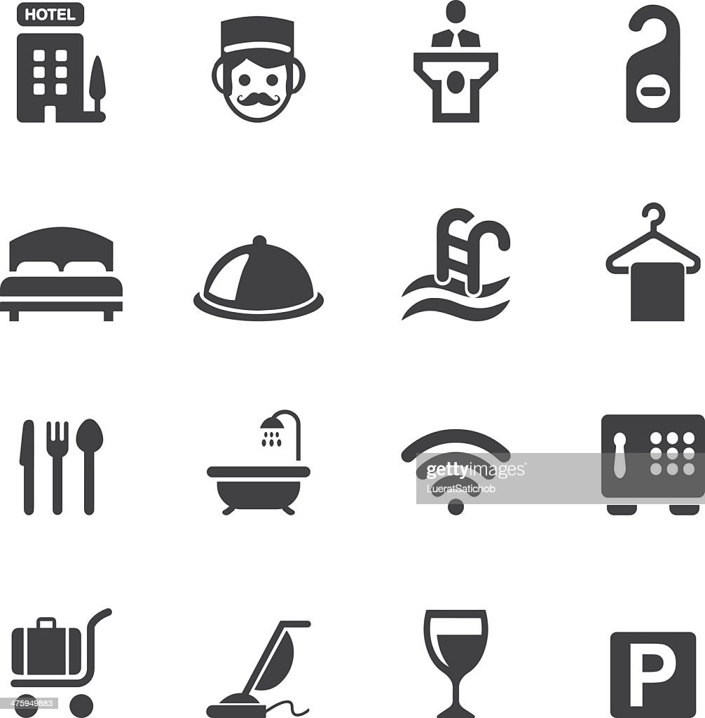 Hotel Silhouette icons 1