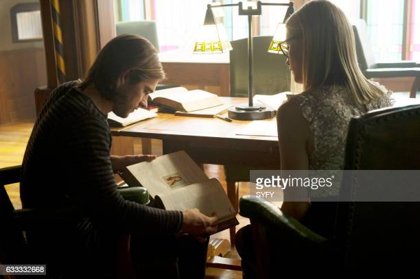 THE MAGICIANS 'Hotel Spa Potions' Episode 202 Pictured Jason Ralph as Quentin Olivia Taylor Dudley as Alice