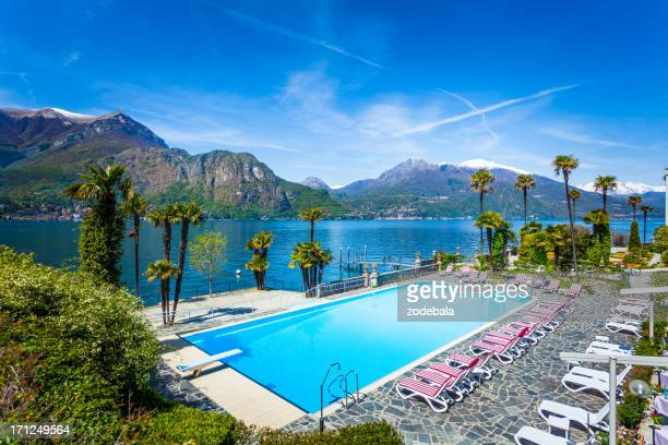 Hotel Swimming Pool on Como Lake, Italy