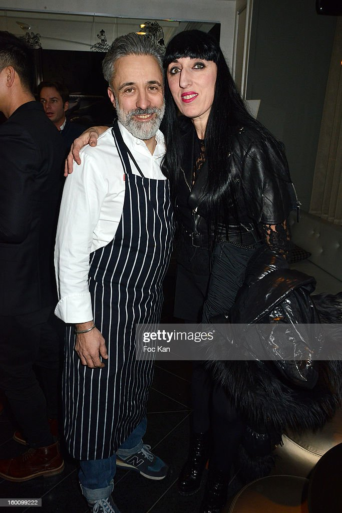 Hotel W catalan chef Sergi Arolaand Rossy de Palma attend the 'Body Double' Ali Mahdavi Exhibition Preview Cocktail At Hotel W on January 25, 2013 in Paris, France.
