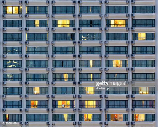 Hotel Windows At Night