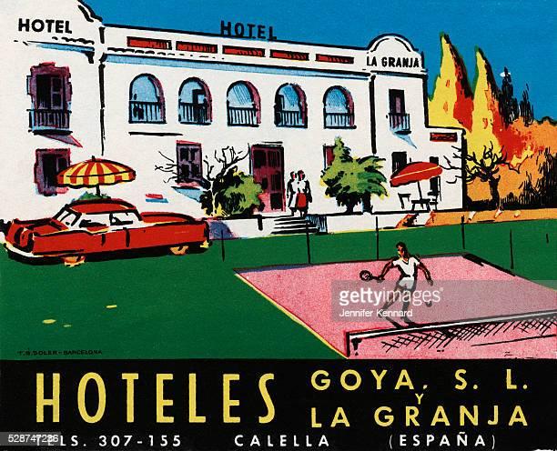 Hoteles Goya SL y La Granja Luggage Label
