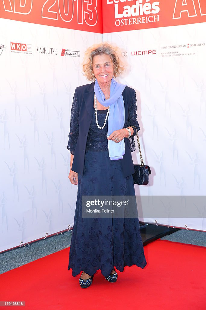 Hotelier Inge Unzeitig attends the Leading Ladies Awards 2013 at Belvedere Palace on September 3, 2013 in Vienna, Austria.