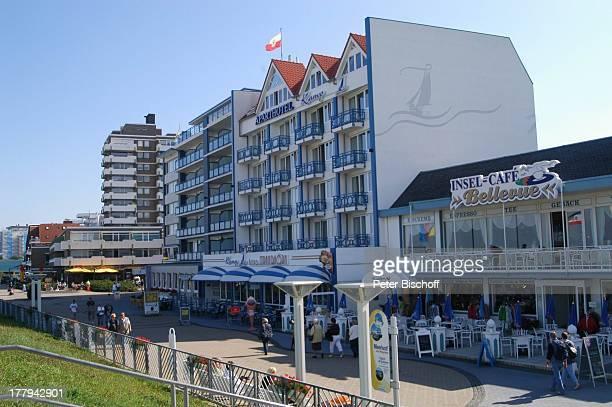 Hotels an der Strandpromenade Cuxhaven Niedersachsen Deutschland Europa Reise