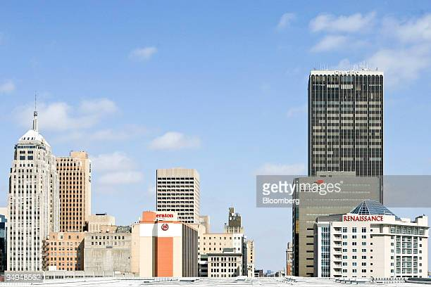 Hotels and commercial buildings stand in Oklahoma City Oklahoma US on March 15 2009 Nearly three decades after an energy bust that forced 122 banks...