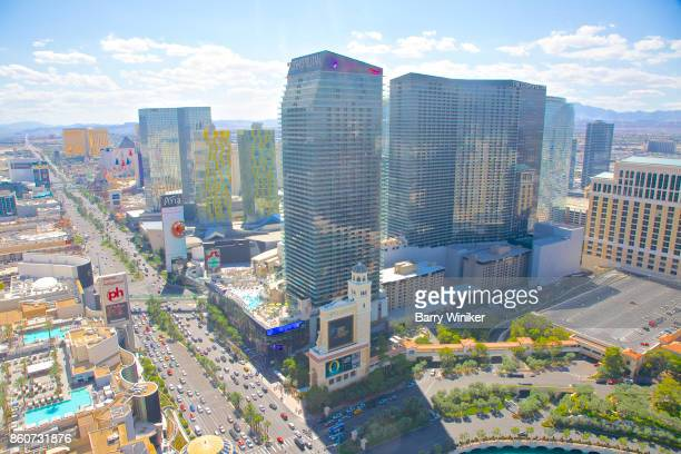 Hotels and Las Vegas Boulevard seen from up high