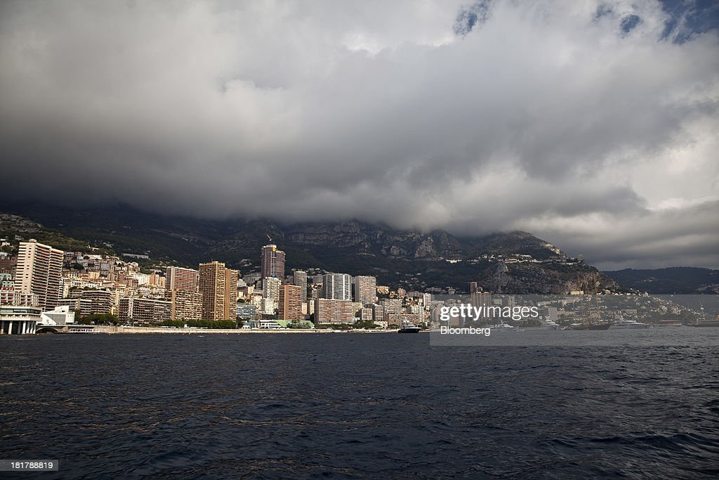 Hotels and residential property stand along the coastline during the Monaco Yacht Show (MYS) in Monaco, France, on Wednesday, Sept. 25, 2013. Over 100 of the world's luxury yachts will be displayed in Port Hercules during the 23rd MYS which runs from Sept. 25 - 28. Photographer: Balint Porneczi/Bloomberg via Getty Images