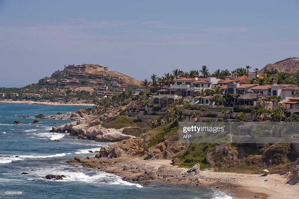 Hotels are seen on the beach in Cabo San Lucas Baja California state Mexico on June 23 2010 The 20000 yearold coral reef in the marinerich Gulf of...