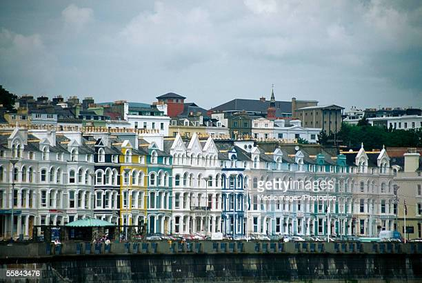 Hotels on a waterfront, Douglas Promenade, Isle of Man, British Isles