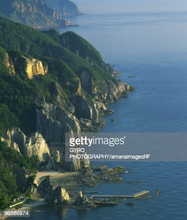 Hotokegaura coastline, Hotokegaura, Aomori Prefecture, Japan : Stock Photo