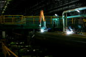 Hotrolling mill at Chelyabinsk Tube Rolling Plant is one of the largest Russian tube and pipe manufacturers on July 12 2007 in Russia The plant...
