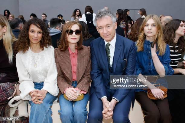 Houda Benyamina Isabelle Huppert CEO Chloe Geoffroy de la Bourdonnaye and Clemence Poesy attend the Chloe show as part of the Paris Fashion Week...