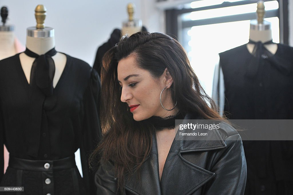 Houghton designer and creative director Katharine Polk poses for pictures during the Houghton presentation at the Houghton Atelier during Fall 2016 New York Fashion Week on February 10, 2016 in New York City.