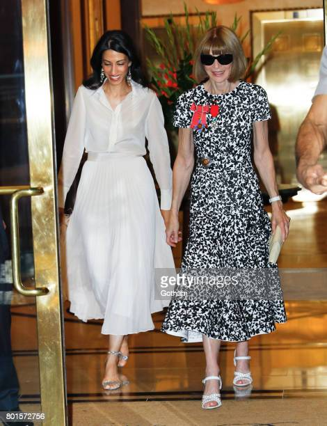 Houma Abedin and Anna Wintour are seen on June 26 2017 in New York City