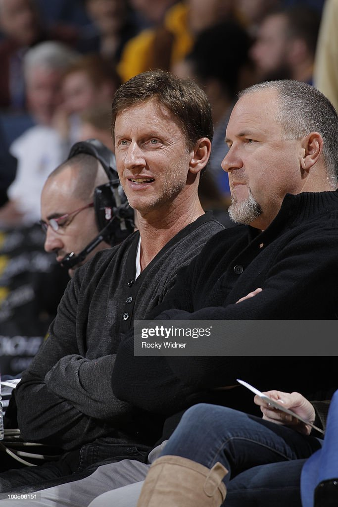 24 hour fitness founder, Mark Mastrov, watches the game between the Golden State Warriors and the Phoenix Suns on February 2, 2013 at Oracle Arena in Oakland, California.