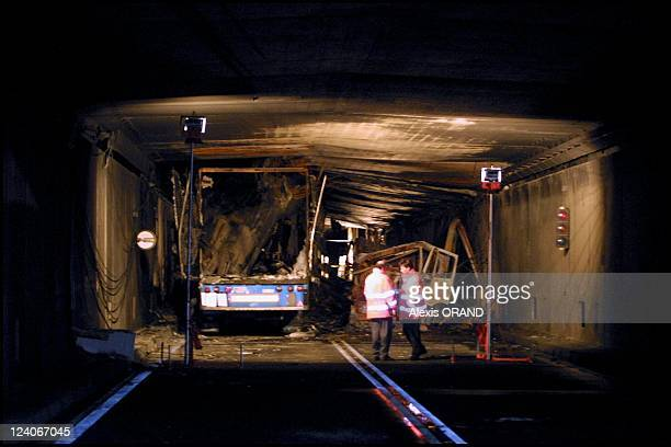 12 hours after Truck collision starts blaze in 17 KM Gotthard tunnel 14 killed according to latest count in Airolo Switzerland on October 26 2001...