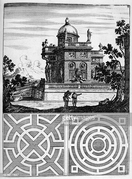 House and garden design 1664 Elaborate designs for Baroque fountains in public squares and private country gardens in the French German British and...