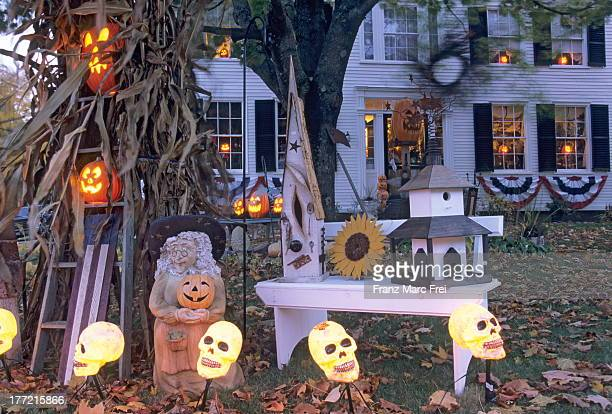 House and Halloween decoration