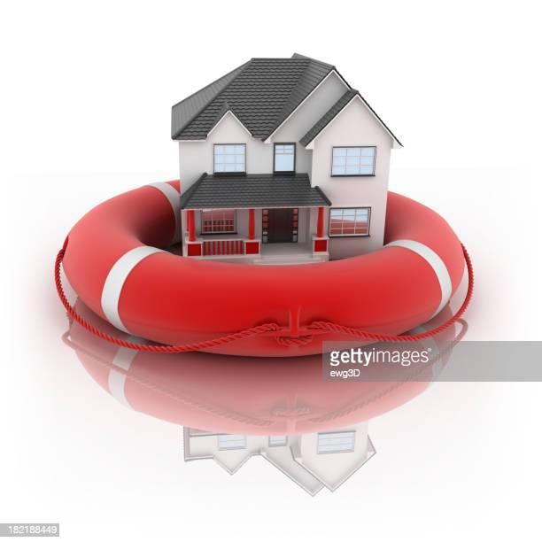 Haus und Rettungsring