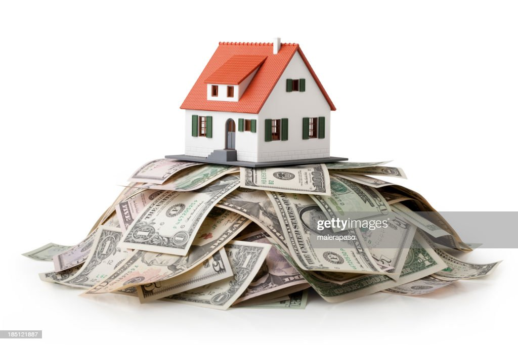 House and money. : Stock Photo