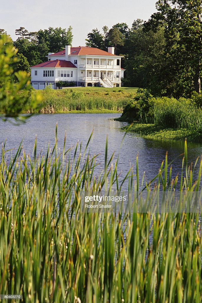 House and pond