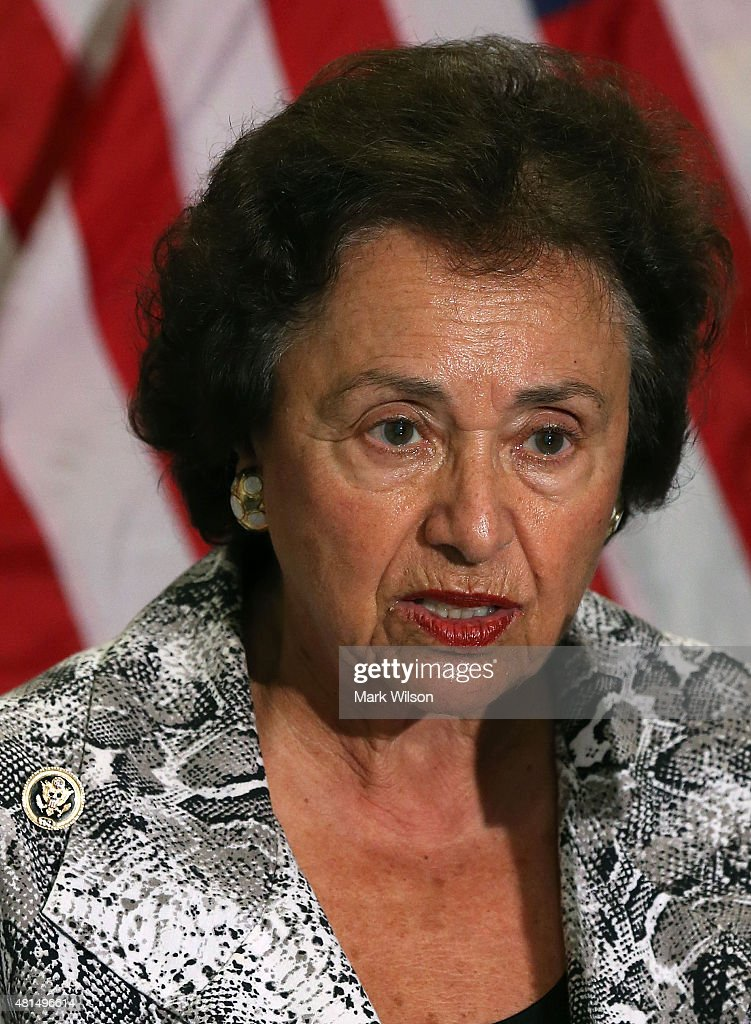 House Appropriations Committee ranking member Nita Lowey speaks during a news conference on Capitol Hill July 21 2015 in Washington DC The House...
