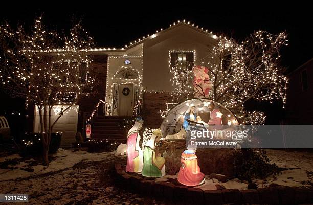 A house at 26 Gaffney Rd displays it''s Christmas lights December 10 2000 in Dedham MA In continuing with the American tradition homes and businesses...