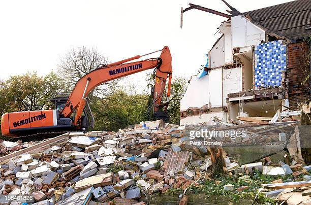 House being demolished