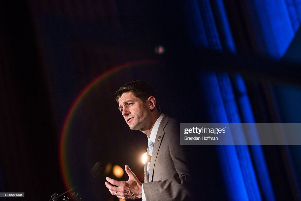 House Budget Committee Chairman U.S. Rep. Paul Ryan (R-WI) speaks at the 2012 Fiscal Summit on May 15, 2012 in Washington, DC. The third annual summit, held by the Peter G. Peterson Foundation, explored the theme 'America's Case for Action.'