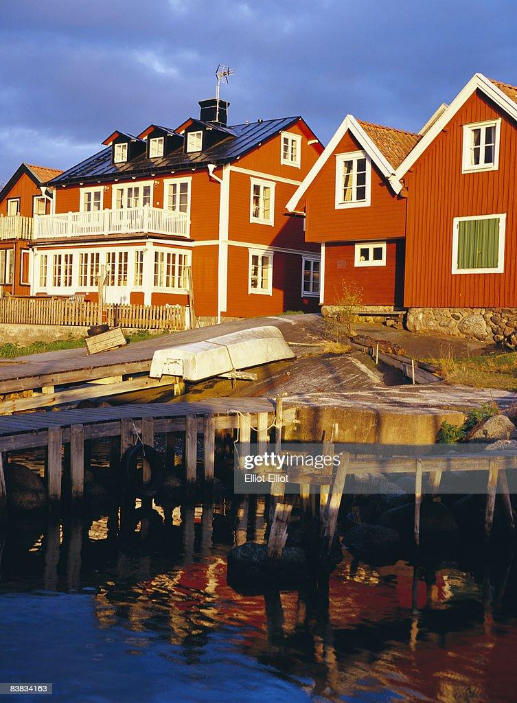 House by the sea Sandhamn Stockholm archipelago Sweden.