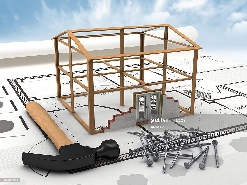 House construction : Stock Photo