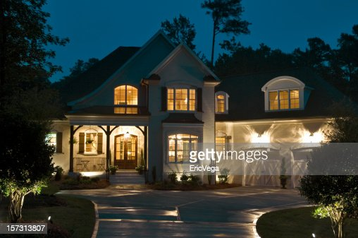House Exterior At Night