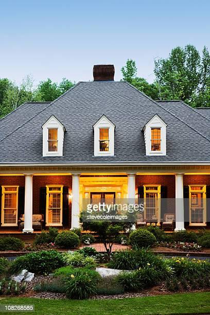 House Exterior Illuminated