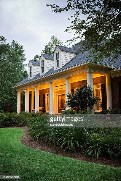 House Exterior with Lights