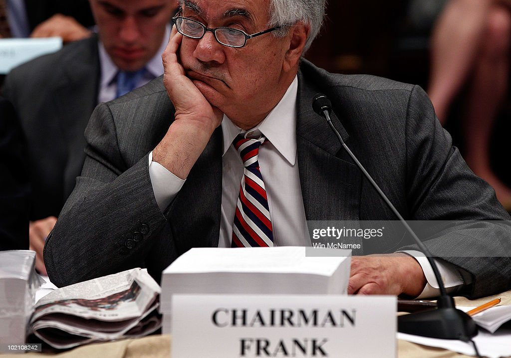 House Finance Committee chair Rep. Barney Frank (D-MA) listens to debate during the House-Senate Conference Committee meeting on H.R.4173, the 'Wall Street Reform and Consumer Protection Act' June 15, 2010 in Washington, DC. Members of the House and Senate are working to reach a compromise on financial reform legislation that passed their respective legislative bodies.