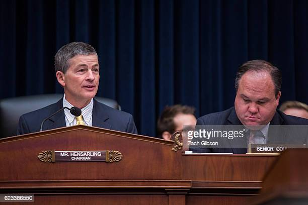 House Financial Services Committee Chairman Rep Jeb Hensarling speaks during a House Financial Services Committee hearing on Capitol Hill on November...
