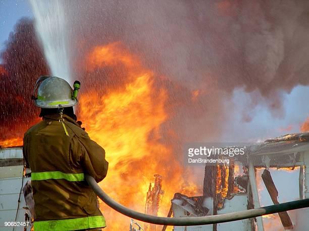 House Fire & Fireman