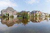 House flooded from Hurricane Harvey 2017 - Heavy rains from Hurricane Harvey caused many floods in Texas