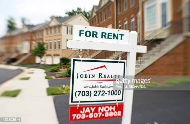 A house for rent sign is viewed on June 4 in Centreville Virginia AFP PHOTO/Paul J Richards