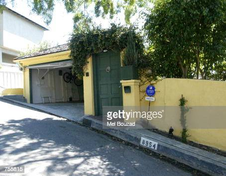 A house for sale is seen March 4 2002 in Hollywood Hills CA Singer Billie Piper and her husband DJ Chris Evans spent the day househunting