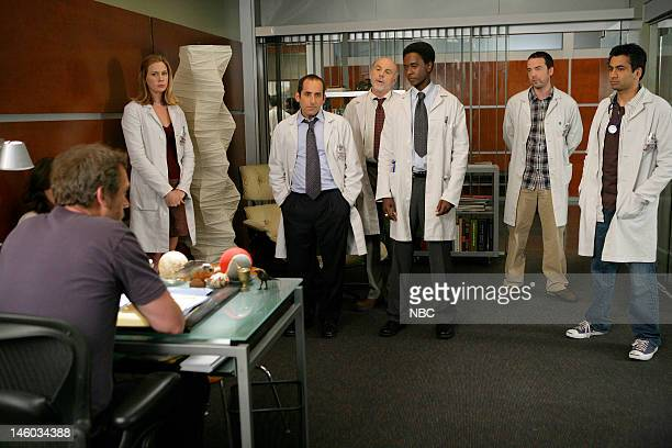 House 'Guardian Angels' Episode 4 Pictured Hugh Laurie as Dr Greg House Anne Dudek as Dr Amber Volakis Peter Jacobson as Dr Chris Taub Carmen...