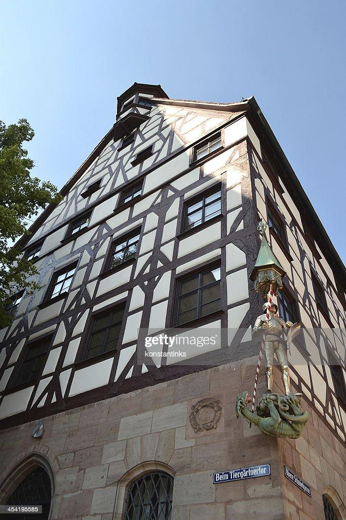 House in center of Nuremberg : Stock Photo
