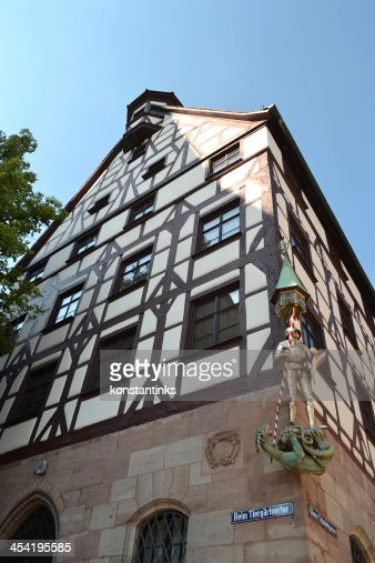 House in center of Nuremberg : Stock Photo
